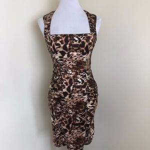 NWT Arden B Animal Print Bodycon Dress size S